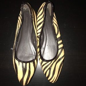 Ladies MoHair Pointy toe flats